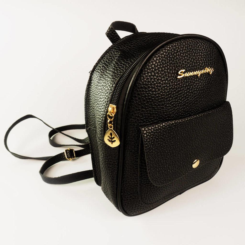 rucksack lederstyle schwarz